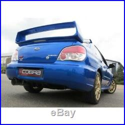 SB30c Cobra sport Subaru Impreza Turbo 01-07 Turbo Back Race type Decat Res