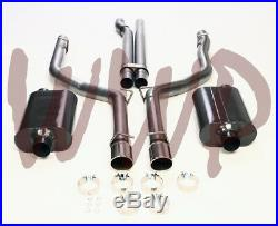 Stainless Dual 3 Cat Back Exhaust System 05-10 Dodge Magnum/Charger SRT8 6.1L