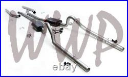 Stainless Dual Header Back Exhaust 68-70 Mopar B Body V8 With Flowmaster Mufflers