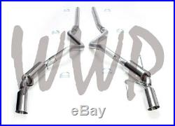 Stainless Steel 2.5 Cat Back Exhaust Muffler System 05-10 Ford Mustang GT 4.6L