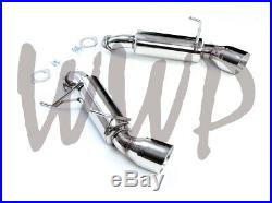 Stainless Steel Axle Back Exhaust Muffler & 4.5 Tips For 09-20 Nissan 370Z 3.7L