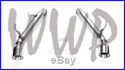 Stainless Steel Axle Back Exhaust Muffler Delete Kit For 09-20 Nissan 370Z 3.7L