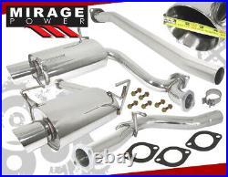 Stainless Steel Catback Exhaust 4 Muffler Tip For 2008-2014 Subaru Impreza Wrx