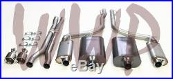 Stainless Steel Dual Cat Back Exhaust System 05-10 Dodge Magnum/Charger RT 5.7L