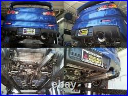 Tsudo V2 Blue-tip 76mm Single exit Race Cat back for EvoX 08-15 Evo10