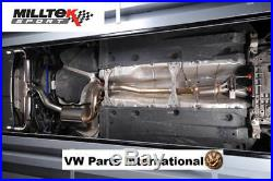 VW Golf MK6 GTI 2.0 TSI Milltek Race Res Exhaust Turbo Back Sports Cat Polished