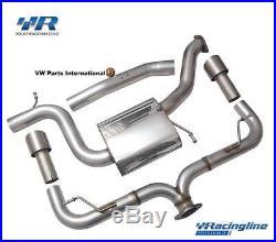 VW Golf MK6 GTI VWR Volkswagen Racing Racingline Dual Exit Cat Back Exhaust